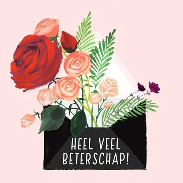 - Beterschapskaart-vrouw-Bloemen-Heel-veel-beterschap