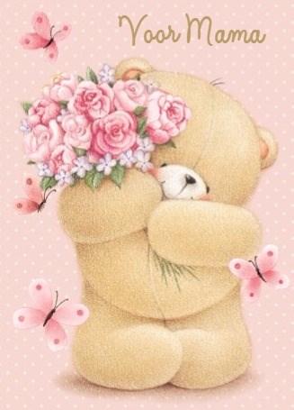 - forever-friends-beertje-geeft-een-prachtig-roze-moederdagboeket
