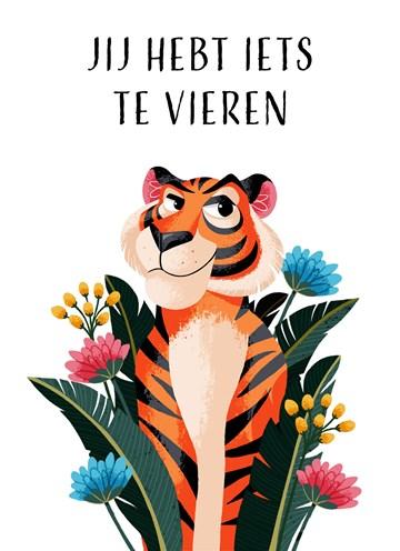 - Verjaardagskaart-Jij-hebt-iets-te-vieren-tijger-Folio
