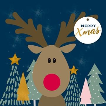 - Kerstkaart-Rudolph-the-red-nose-reindeer