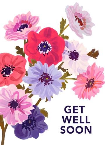 - Beterschapskaart-vrouw-Bloemen-Get-well-soon-Engels